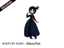 Monster High Comp: 'Allana Poe' by Jelly-0