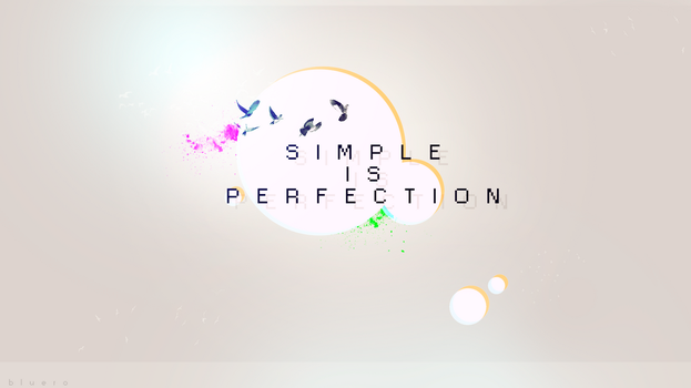 SIMPLE IS PERFECTION - BIRDS by blueroBR
