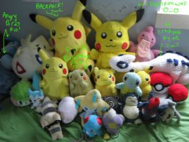 POKEMON PLUSHIEZ!! :D by DibFan4LifeX3