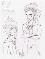Axel and Roxas by anime-fan-addict