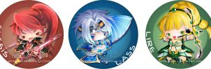 Grand Chase Chibis by IngridTan