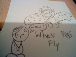 School Drawing: when pigs fly by Burnzy69