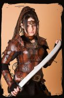 wood elf leather armor by Lagueuse