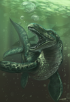 Mosasaur by Ifus