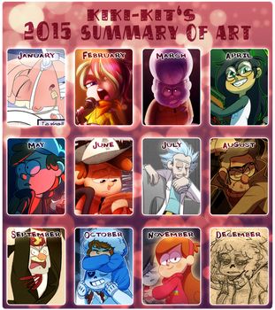 2015 Summary of Art by kiki-kit