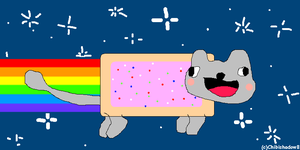 Derp Nyan Cat .   D    . by chibishadow8