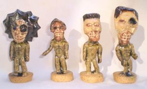 Zombies, Group 1 by aberrantceramics