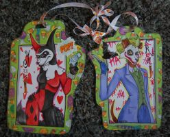 Harley and Joker Badges by AliceAlexia
