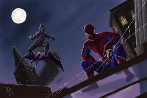 Spider-man vs. Green Goblin by BenjaminGalley