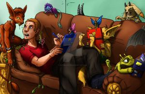...just having a FEW freinds over... by Sethmonster