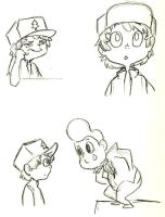 Dipper Sketches by WizardOfPotato