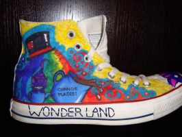 Alice in Wonderland Shoes: 6 by underneath-the-paint
