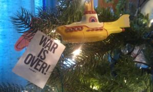 My yellow Submarine and War Is Over Ornaments by Juliangirl