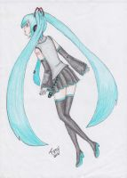 Vocaloid2 - Hatsune Miku by Fany896