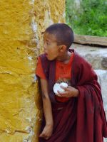 Playful young Buddhist monk by CultureQuest