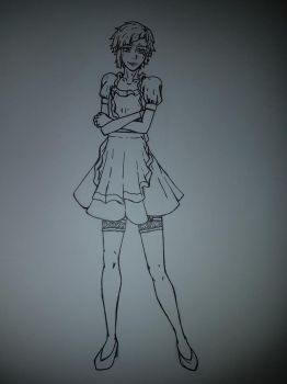 Atsushi In Maid Outfit by bsdthings