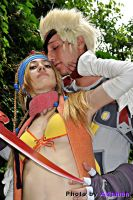 Rikku and Gippal by adaman77
