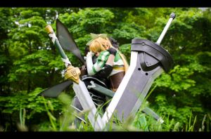 Kirito and Leafa -  Familyhood by Iloon-Creations