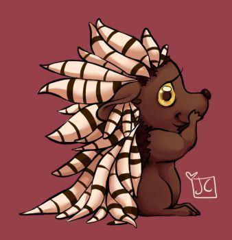 Porcupine by kittenspore