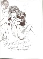 Netherlands and Fem! Germany (Black Swan Version) by HumanIntheMirror