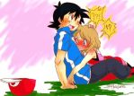 Amourshipping Ash Ketchum and Serena by JorgeMoctezuma