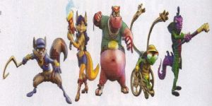 Characters from Sly 4 Thieves in Time by Claire-Cooper