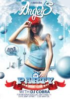 PARTY ANGELS - FREE TEMPLATE PSD by phoks2