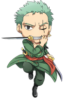 One Piece: Zoro Chibi by Kanokawa