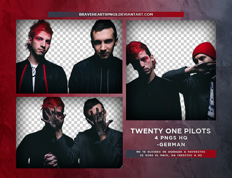 Pack png 866: Twenty One Pilots by BraveHearts-PNGS