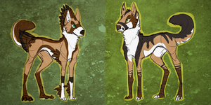 MEET THE MUTTS. by Stitchy-Face
