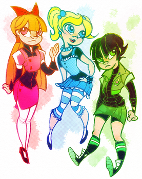 Powerpuff Girls Doodledump-7 by Busterella