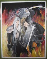 Sephiroth poster by Fiannalyn