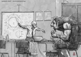 Shadowrun -  Teaching a troll by Vaejoun