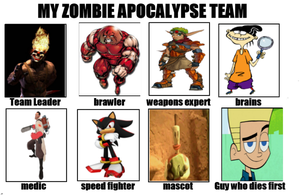 DrEarthwormRobotnik's Zombie Apocalypse Team by DrEarthwormRobotnik