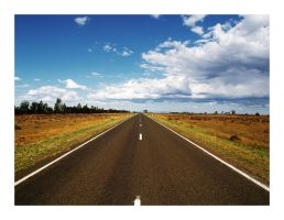 Very straight road by Ouylle