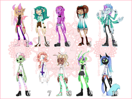 pastel goth adoptables by DGAdopts