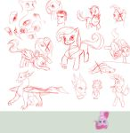 Sketch Ponies_and Dragons by Tsitra360