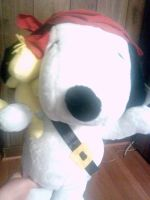 Peanuts Giant Pirate Snoopy Plushie 2 by DalmatiansHuskies