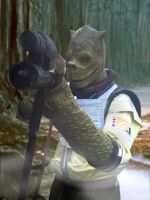 Bossk costume in the woods by Stew750