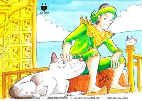 Bayinnaung and his dog - Bull Terrier by sw-eden
