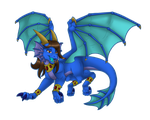 [B-Day Gift] Blue Skylander by Naeda