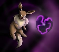 Eevee uses ShadowBall by Kalinel