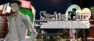 STEINS GATE Okabe Wallpaper/Banner by ResurrectedDreamcast