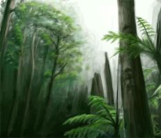 Forest Speed Paint by AlvinHew