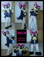 Rain partial fursuit by RadCatBlakat