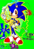 Sonic The Hedgehog paint by deep-rootz