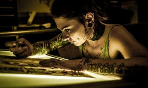 Tattoo Artist Portrait by dennissloan21