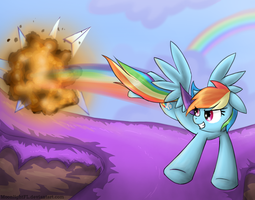 Rainbow Dash Attack by MoonlightFL