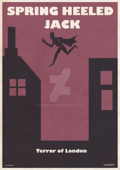 Spring Heeled Jack Poster by countevil