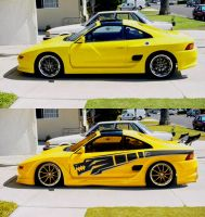 yellow dragon MR2 by fastworks